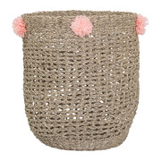 seagrass-basket-with-pom-poms-rose