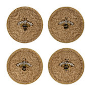 set-of-4-coasters-stripy-bee