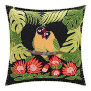 tropical-love-birds-cushion-black