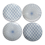 assorted-check-stripe-plates-set-of-4