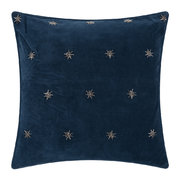 embroidered-velvet-star-cushion-50x50cm-navy
