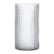 dotted-cylindrical-glass-vase-clear-30cm