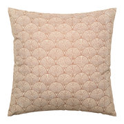 shell-patterned-cotton-cushion-brown-50x50cm