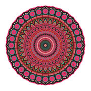 mandala-round-vinyl-floor-mat-red-multi