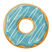 ring-donut-vinyl-placemat-blue