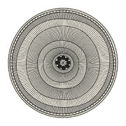 cyclades-striped-rings-round-vinyl-floor-mat-black-white