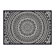 kathmandu-abstract-flower-vinyl-placemat-black-white