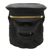 terracotta-chimpanzee-officer-plant-pot-black