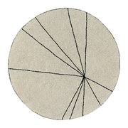 trace-round-washable-rug-160cm-beige