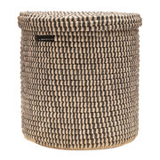 yule-hand-woven-check-laundry-storage-basket-black-s