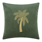 velvet-palm-tree-cushion-cover-45x45cm-green