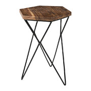 hexagon-wooden-side-table