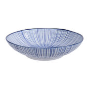 nippon-blue-pasta-plate-lines