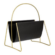 leather-magazine-basket-gold-black
