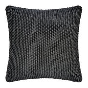 metallic-cable-knit-cushion-black-silver