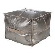 metallic-leather-pouf-silver