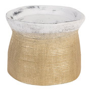 earthenware-pressed-linen-candleholder-gold-white