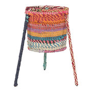 fabric-wrapped-tripod-plant-holder