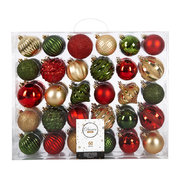 set-of-60-baubles-gold-green-red