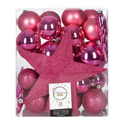 set-of-33-assorted-baubles-and-tree-topper-flashing-pink