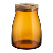 bruk-clear-jar-with-cork-lid-amber-large