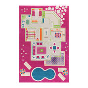 childrens-3d-play-rug-pink-play-house-134x200cm