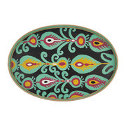 ikat-hand-painted-iron-tray-teal-paisley