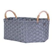 dimensional-open-oval-basket-with-rattan-handles-dark-grey
