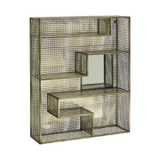 wall-rack-with-mirror-gold