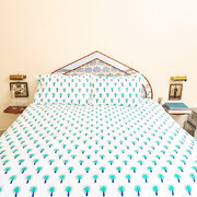 bedlinen-set-in-bag-turquoise-palm-tree-double