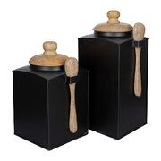 black-storage-pot-with-spoon-set-of-2