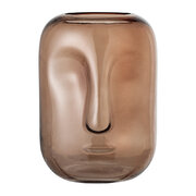 face-glass-vase-brown