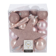 set-of-33-assorted-baubles-and-tree-topper-blush-pink