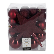 set-of-33-assorted-baubles-and-tree-topper-oxblood