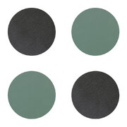 double-circle-drinks-coaster-set-of-4-anthracite-pastel-green