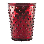 hobnail-glass-candle-chrome-red-reindeer