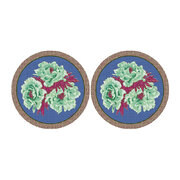 floral-round-coaster-set-of-2-green-blue