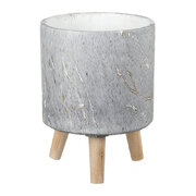 marble-cement-planter-grey