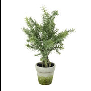 faux-potted-rosemary-plant-green