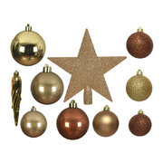 set-of-33-assorted-baubles-and-tree-topper-gold-brown