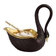 black-swan-salt-cellar-gold-plated-spoon