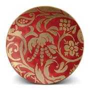 fortuny-dessert-plate-uccelli-red