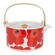 unikko-teapot-white-red