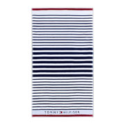 navy-striped-beach-towel