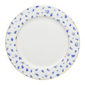 Mrs Moore's Vintage Store - Alice Chintz White Plate with Gold Trim - 25cm