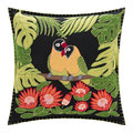 Jan Constantine - Tropical Love Birds Cushion - Black