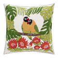 Jan Constantine - Tropical Love Birds Cushion - Cream