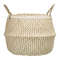Bloomingville - Seagrass Zigzag Basket - White/Nature