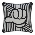 Zoeppritz since 1828 - Anniversary Design Thumbs Up Cushion - 50x50cm - Black