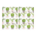 Thornback & Peel - Cactus & Bird Placemats - Set of 4
